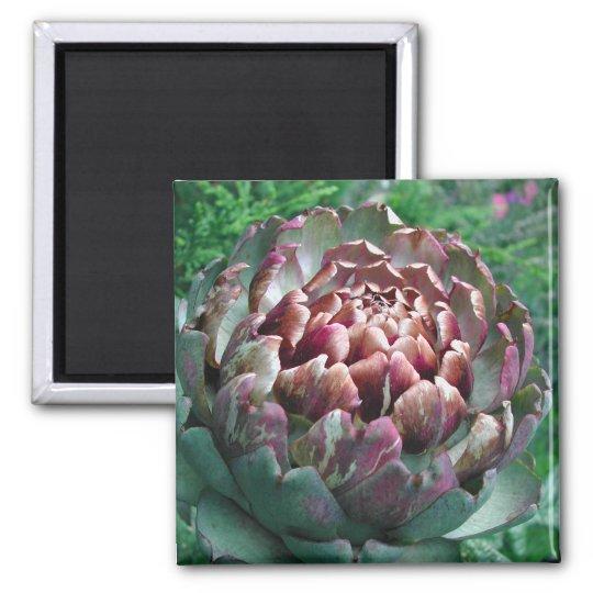 Open Artichoke Plant. Magnet