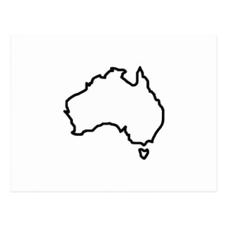 OPEN AUSTRALIA OUTLINE POSTCARD