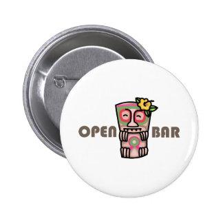 Open Bar 6 Cm Round Badge