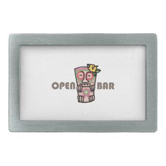 Open Bar Belt Buckles