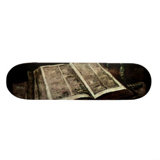 Open Bible Book with Candles - van Gogh Custom Skateboard