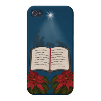 Open Bible Christmas Message iPhone 4/4S Cover