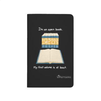 Open Book Black Pocket Journal