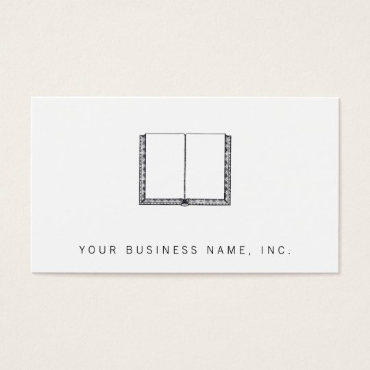 Open Book (Blank Pages) Business Card