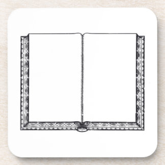 Open Book (Blank Pages) Drink Coasters