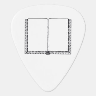 Open Book Blank Pages Plectrum