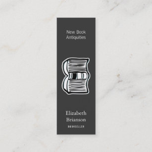 Open book business cards zazzle uk open book mini business card reheart Images