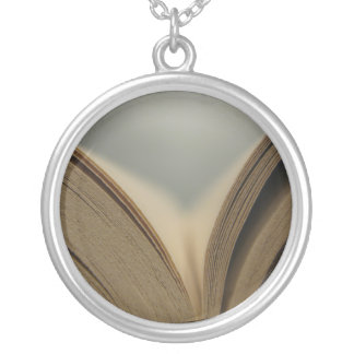 Open Book Pages Necklace