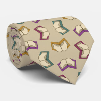 Open Books Pattern Tie