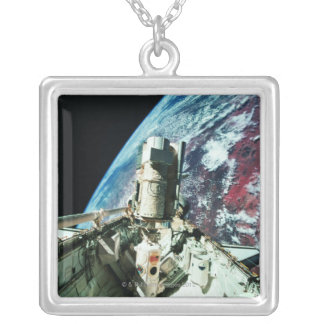 Open Cargo Bay 2 Silver Plated Necklace