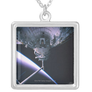 Open Cargo Bay Silver Plated Necklace