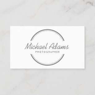 Circle logo business cards zazzle uk open circle logo in gray business card reheart Choice Image