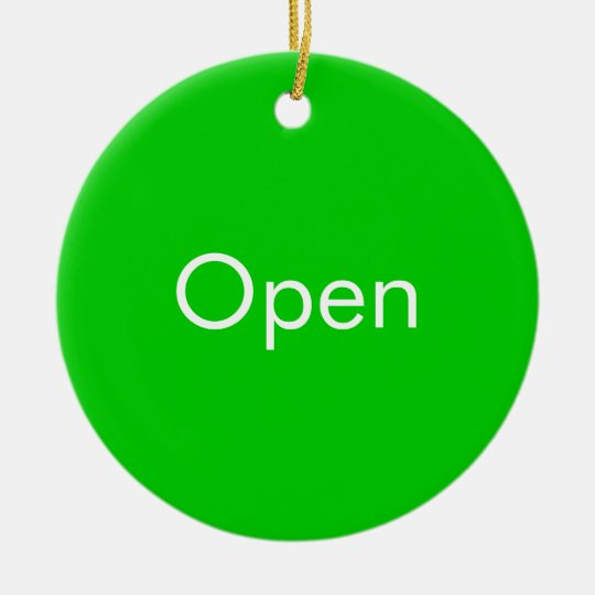 Open / Closed Door Sign Christmas Ornament