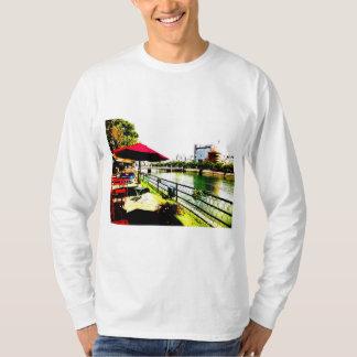Open coffee of the Hiroshima city capital bridge T-Shirt