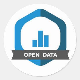 Open Data Sticker Badge