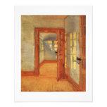 Open door unique small flyer handout door painting