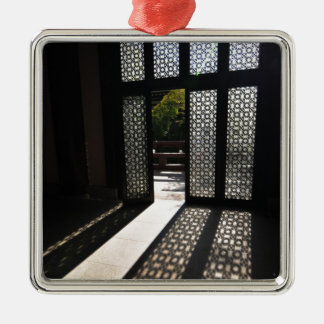 Open doors Silver-Colored square decoration