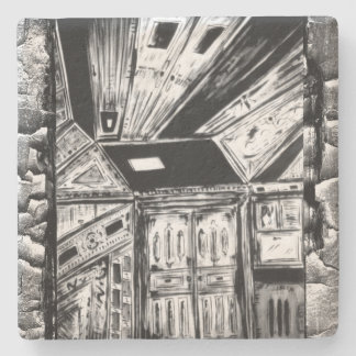 Open Doors Stone Coaster