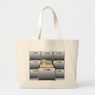 Open Drawer with Top Secret File Large Tote Bag