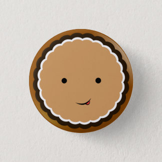 Open-faced Chocolate Cream Cookie 3 Cm Round Badge