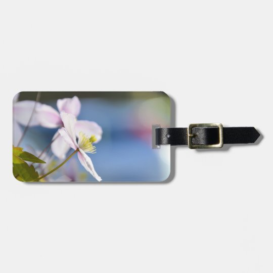 Open Flower Luggage Tag
