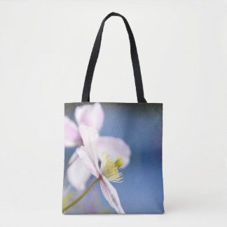 Open Flower Tote Shopper Bag