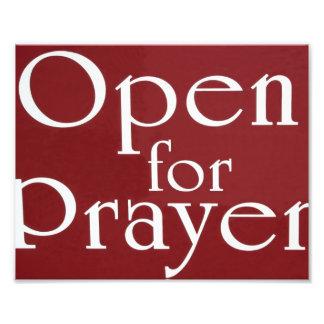 Open For Prayer Sign Photo Print