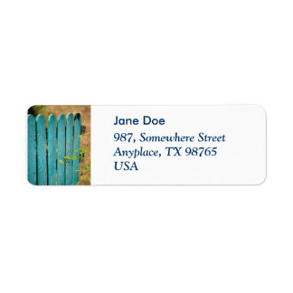 Open gate return address label