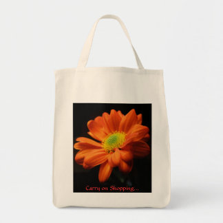 Open gerbera tote bag