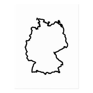 OPEN GERMANY OUTLINE POSTCARD