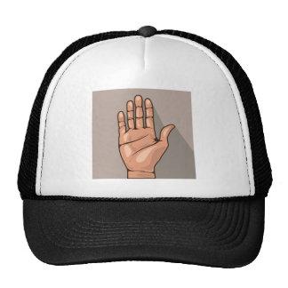 Open hand vector cap