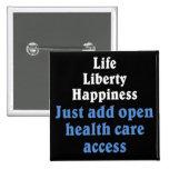 Open healthcare access 2 button