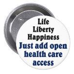 Open healthcare access buttons