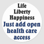 Open healthcare access sticker