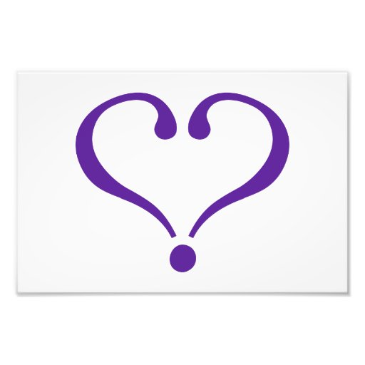 Open heart in purple for Valentine's Day love Photograph