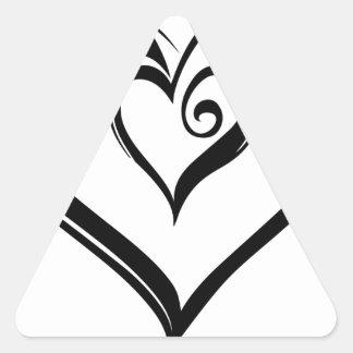 Open Hearts Design Triangle Sticker