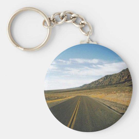 Open Highway- Death Valley Basic Round Button Key Ring