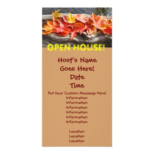 OPEN HOUSE! Announcement Event Invitation Cards Photo Card Template