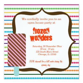 Open House Ice Cream salon 13 Cm X 13 Cm Square Invitation Card