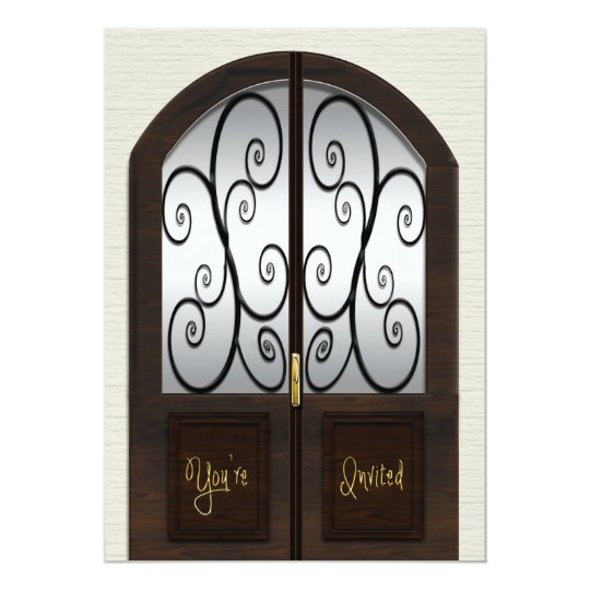 Open House Invitation - Fancy Double Pane Door
