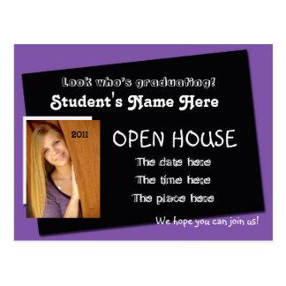 open house invitation postcard