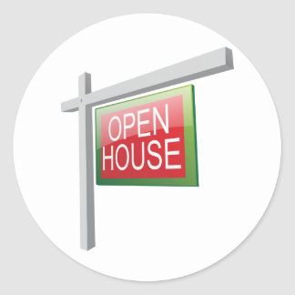 Open House Sign Stickers