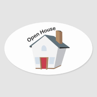 Open House Oval Sticker
