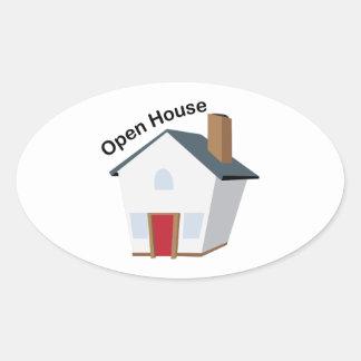 Open House Sticker