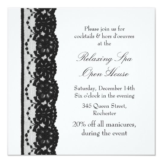Open House White French Lace Card