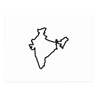 OPEN INDIA OUTLINE POSTCARD