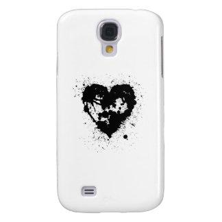 Open Ink Splat Heart Galaxy S4 Case