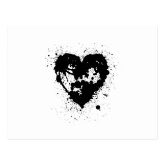 Open Ink Splat Heart Postcard