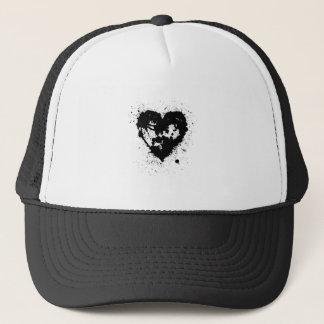Open Ink Splat Heart Trucker Hat