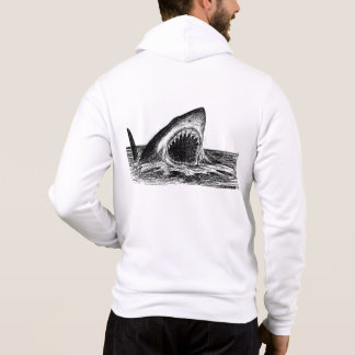 OPEN JAWS Great White Shark Men's hoodie